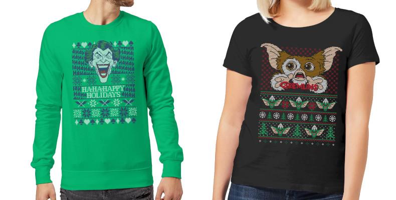 Sudadera y camiseta friki navideña